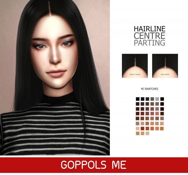 Hair line G1 centre parting by GoppolsMe