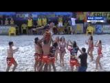 Горячие Испанцы на Чемпионате Европы по пляжному регби в Москве 2017г.