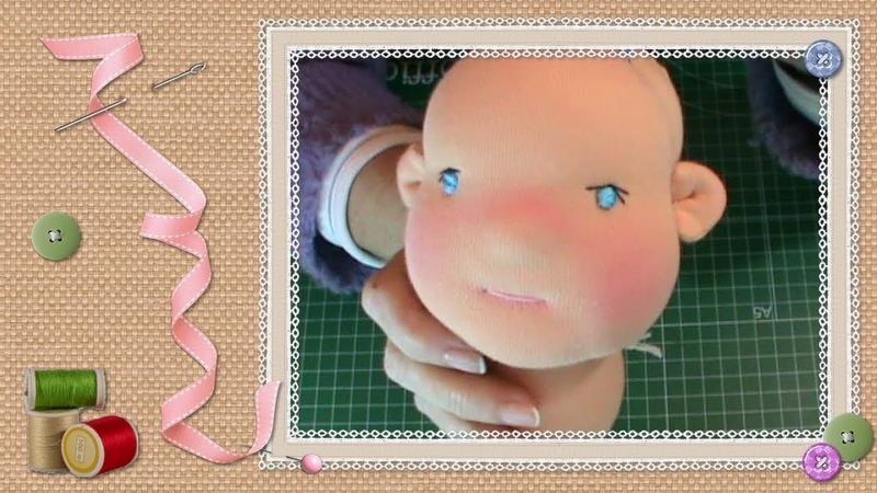 Tutorial muñeca waldorf (5-14): Cara y orejas / Waldorf doll tutorial: Face and ears