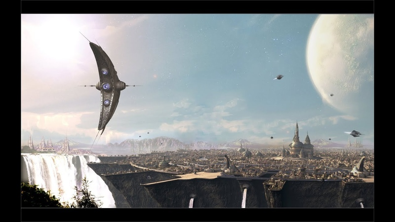 Aliens Attack Colonization Spaceship - planet Origae-6 space Fight Scenes
