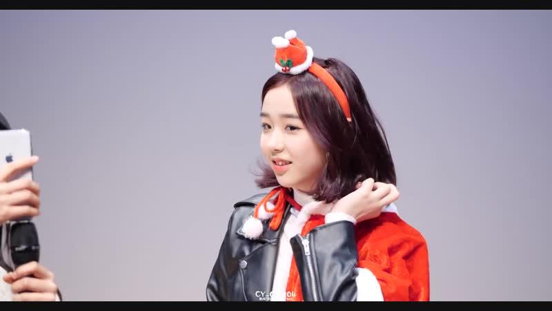 [4K] 181224 버스터즈(Busters) 채연(ChaeYeon) - 민정이와 영상통화 @ 크리스마스 기념 스페셜 팬싸인회팬미팅 직캠(Fancam) by CY_041204