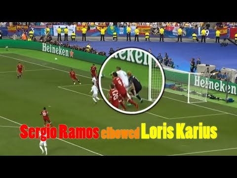 Sergio Ramos elbowed Loris Karius in the head moments before Liverpool keeper's howler