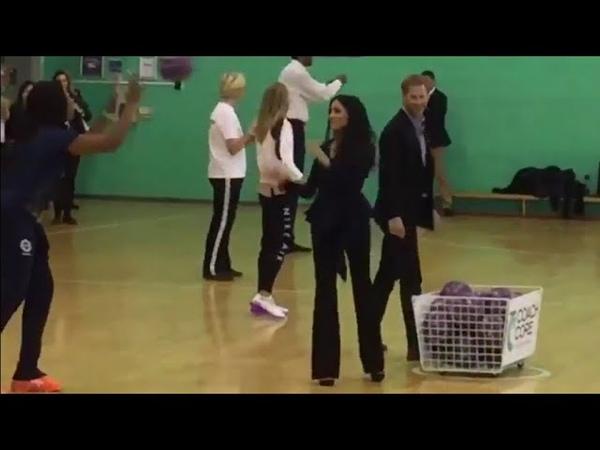 It's Team Duke Vs Team Duchess As Meghan Harry join CoachCore Netball Shootout.