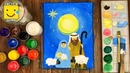 How to draw nativity scene easy step by step Christmas Рождество