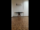 Hand stand in the middle split