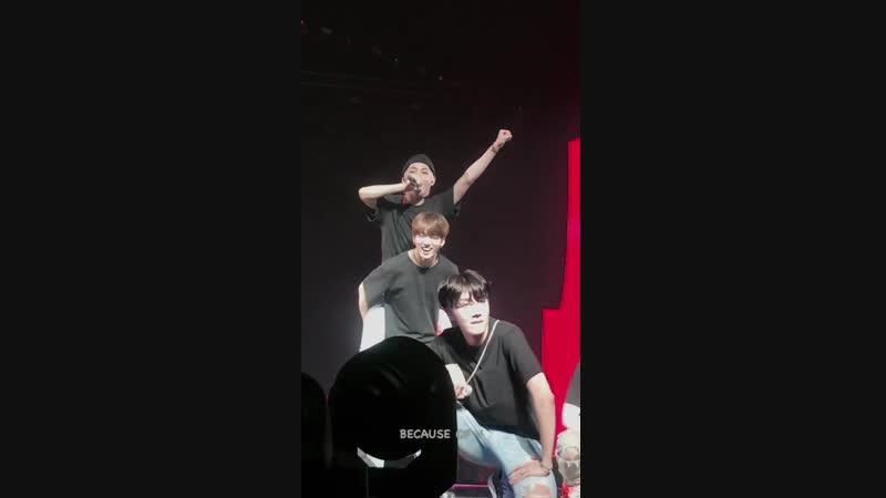 180923 ANPANMAN @ BTS 방탄소년단 LYS LOVE YOURSELF TOUR HAMILTON (V FOCUS)