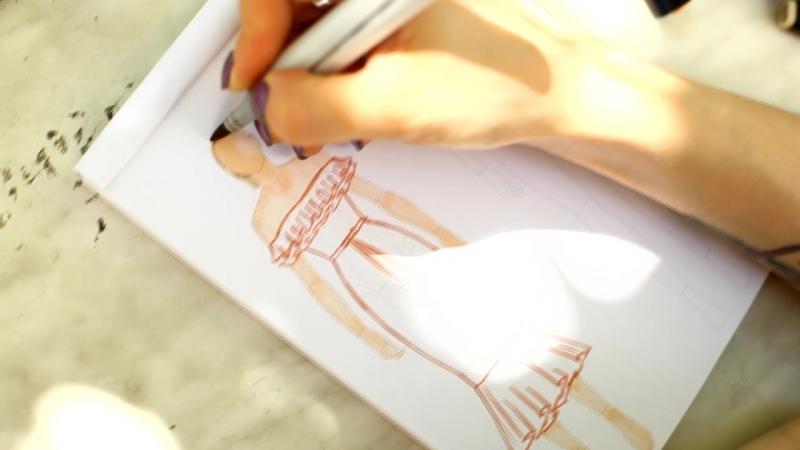 Рисуем эскиз платья в BLANK A5