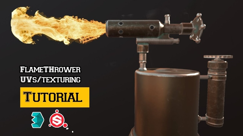 FlameThrower Tutorial UV unwrapping and Texturing in 3Ds Max