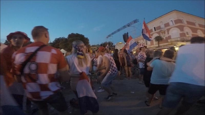 Porec, Croatia: Празднование финала ЧМ (Пореч, Хорватия)
