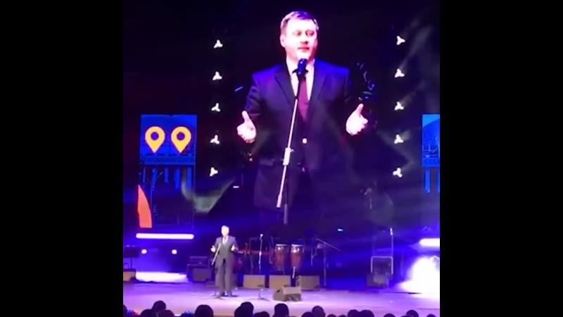 Пьянный мэр Новосибирска Локоть Анатолий на церемонии награждения Народной преми