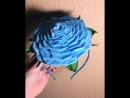 Ободок с розой и бутоньерка на руку 💙