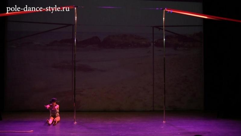 4 турнир студии Pole Dance Style. Pole Art - продвинутые. Чунц Полина.