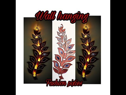 DIY cardboard wall art wall hanging candle holdercardboard wall hanging fashion pixies
