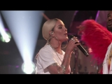 Halsey and Big Sean_ Alone - The Voice  22 05 2018 талант-шоу «The Voice», Лос-Анджелес, США.