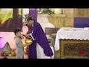 1 Bạn Nhỏ Và 1 Chị Đến Với Lòng Chúa Thương Xót Dành Tặng Heo Đất Để Làm Việc Bác Ái