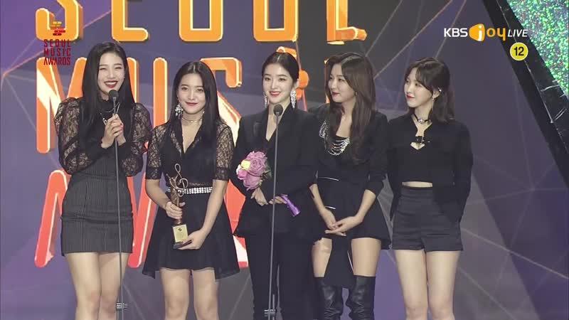 190115 28th Seoul Music Awards  Red Velvet wining a Bonsan