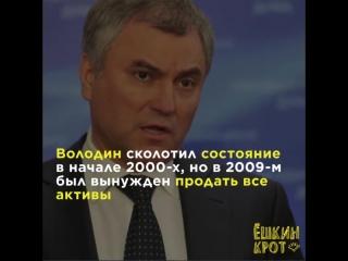 Откуда у Вячеслава Володина 540 млн на счетах? откуда?!!