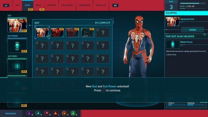 Костюмы и гаджеты в Marvel's Spider-Man