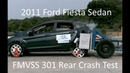 2011 2019 Ford Fiesta Sedan FMVSS 301 Rear Crash Test 50 Mph