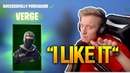 Tfue Buys Loves His *NEW* VERGE Skin (PERFECT!) Fortnite Funny Fails Best Moments