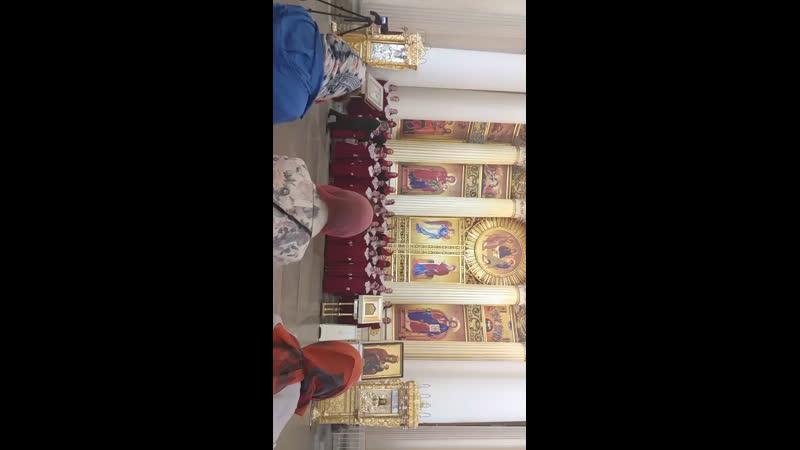 Решила снять по одной песни от каждого хора )Фестиваль Пасха Красная!