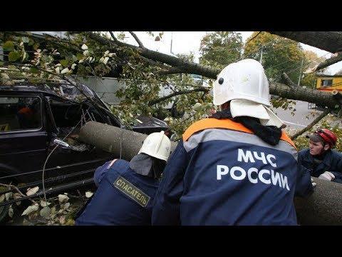 Стихия в Татарстане. Срывало кровли, ломало деревья. Более 300 человек на восстановительных работах.