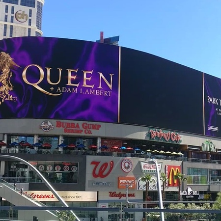 """Maria C. Møller on Instagram: """"This is the most sane thing I've seen in this place so far 😍😂 LasVegas billboard QAL Queen AdamLambert BrianMa..."""