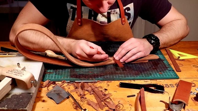 Изготовление кожаного ремня ручной работы Grossone