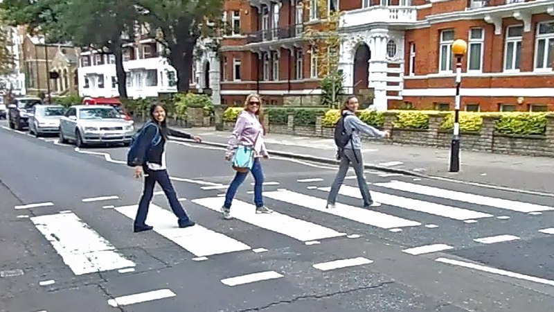Abbey Road zebra crossing, in London