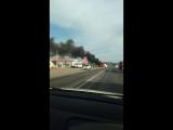 Фура горит на М5, Бавлинский перекресток