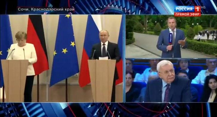 60 минут(19-00)_18-05-18_Меркель в Сочи_ Германия и Россия сближаются.