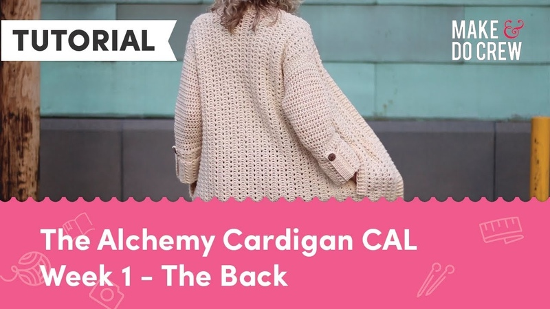 Alchemy Cardigan Crochet Along Part 1 - Free Modern Sweater Pattern