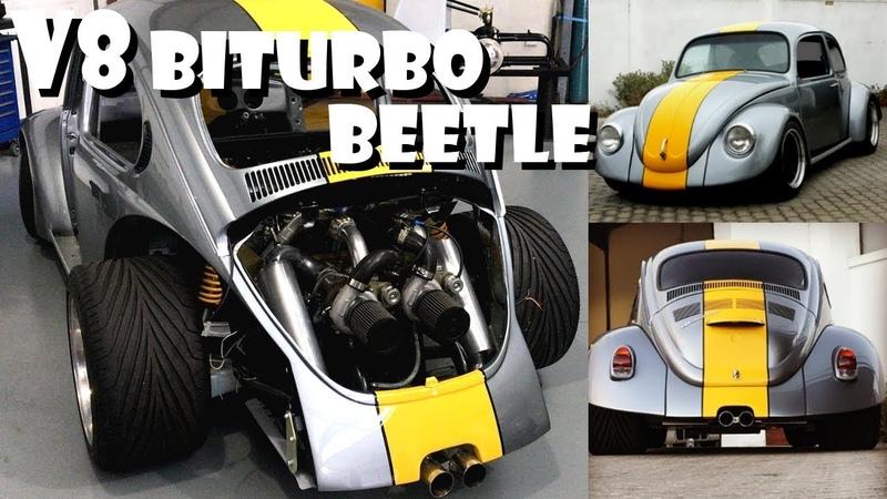 Volkswagen VW Beetle Bug V8 Biturbo Built Vocho Fusca Kafer Overhaulin