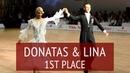 PD WDSF European Champions - Donatas Vezelis Lina Chatkeviciute - Waltz, Tango, VWaltz, SF
