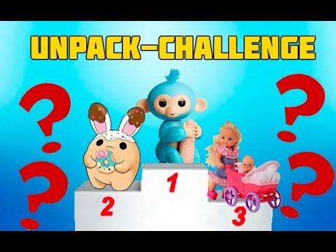 Go UNPACKING😀CHALLENGE Smooshy Mushy FINGERLINGS Evi video for children we recommend-SST