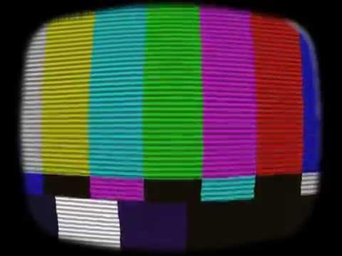 Footage Old TV Test Signal and Noise NTSC - Футаж Старый телевизор, тест сигнала и шум