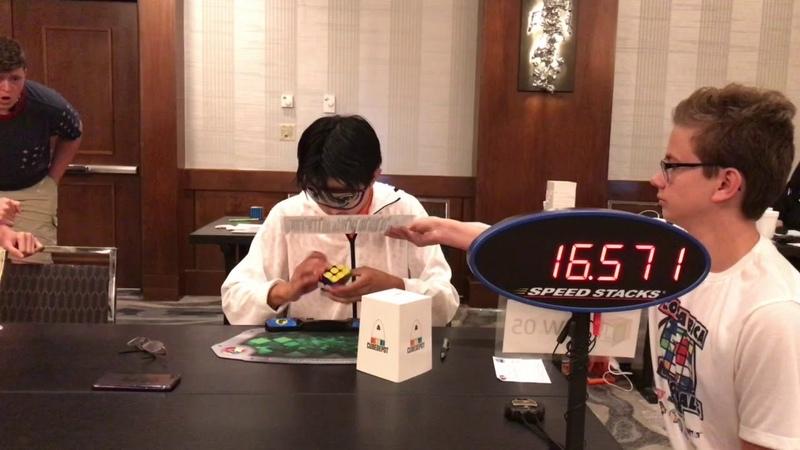 Rubik's Cube Blindfolded World Record 17 33 Seconds