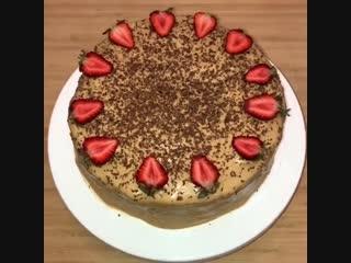 Вкусный торт приготовим дома.Пальчики оближешь.
