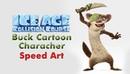 Speed Art Ice Age Collision Course Buck Cartoon Character Art Talent