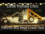 1996-2000 Honda Civic Sedan FMVSS 301 Rear Crash Test (50 Mph)