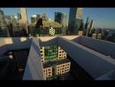Безумные трюки на крыше небоскрёба