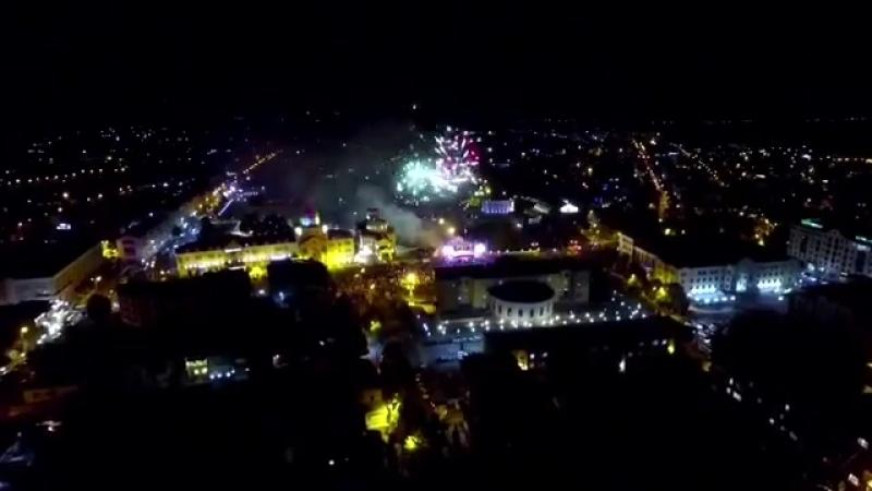 Праздничный салют в Степанакерте к 27-летию Независимости Арцаха
