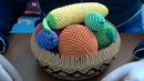 How to make 3D Origami fruit basket .
