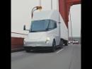 Tesla Semi driving to Santa Rosa