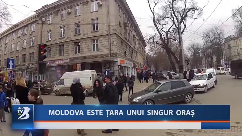 MOLDOVA ESTE ȚARA UNUI SINGUR ORAȘ
