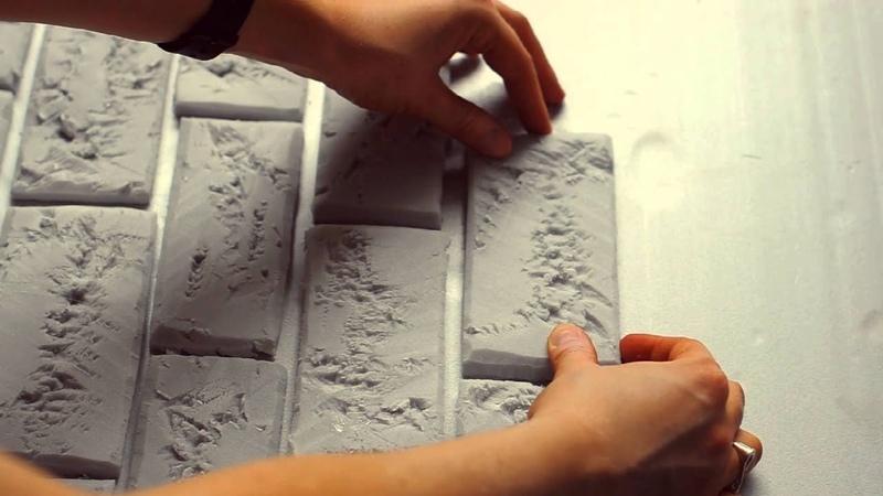 мастер класс кирпичная стена из пенопласта фотофон DIY brick wall of foam