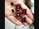 Серьги с кристаллами сваровски красные.mp4