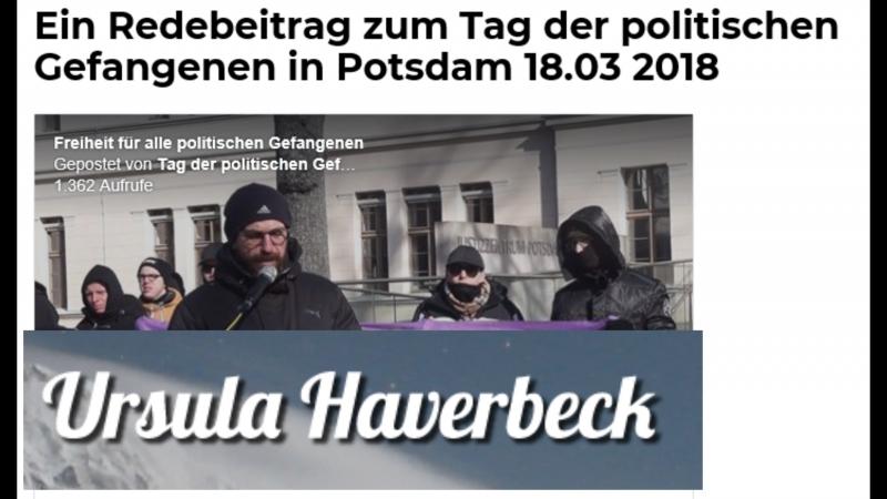 Freiheit für alle politischen Gefangenen und Freiheit für Frau Ursula Haverbeck