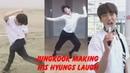 Jungkook (정국 BTS) making his hyungs laugh