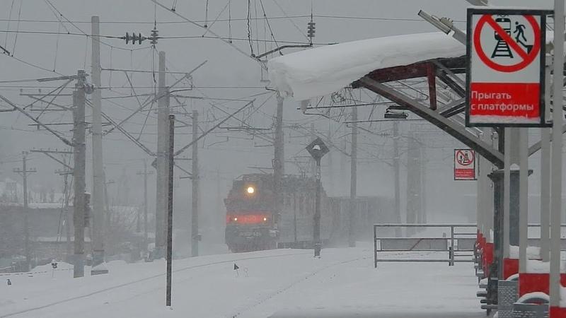 Родной поселок наш Васильево Метет снег